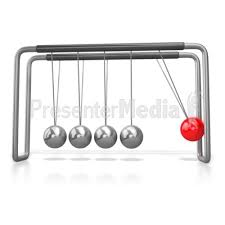 Swinging Desk Balls Kinetic Motion Newtons Cradle A Powerpoint Template From