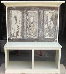 Headboard From Old Door by Bench Seats Made Using Old Doors Eclectic Entry Dallas By