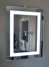 Bathroom Mirror Cabinet With Lights Lighted Medicine Cabinet 24 W X 36 T Lighted Door