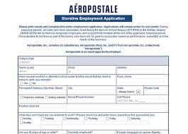 aéropostale job application adobe pdf apply online
