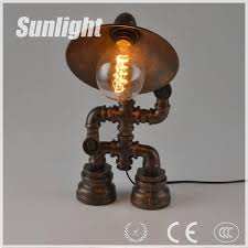 steampunk lamp robot lamp water pipe lighting table lamp edison