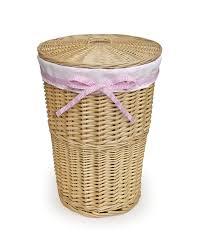 Wicker Clothes Hamper With Lid Badger Basket Round Rattan Hamper By Oj Commerce 0193n 27 07