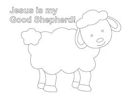 shepherd sheep coloring lesson good shepherd