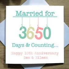 10th wedding anniversary 10th wedding anniversary greetings card tin anniversary tin