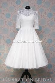 Vintage Wedding Dresses Uk Lace Tea Length Dress With Elbow Length Sleeves Lyn Ashworth Sweet