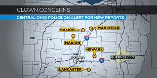 Map Of Marion Ohio by Central Ohio Police Expect More Reports Of Clown Sightings Wbns