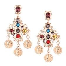 Chandelier Earrings India China S Colorful Chandelier Earrings India