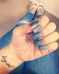 long acrylic gel nails gray nails square nails sister tattoo