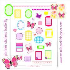 free printable planner stickers butterfly ausdruckbare