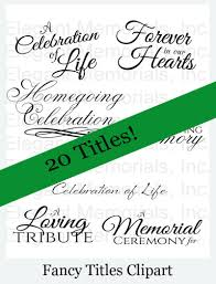 Elegant Funeral Programs Funeral Program Fancy Titles Memorial Booklet Graphics And Fonts