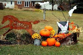 Outdoor Decorating Ideas by Fall Yard Decorations U2014 Jen U0026 Joes Design Martha Stewart Fall