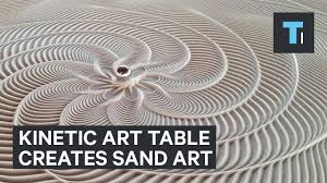 sand art table for sale table that creates sand art with marble that rolls by itself youtube