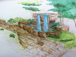 Waterfall In Backyard Backyard Waterfall Design Neptune Panels Blog