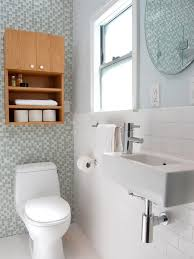 Ideas For Small Bathroom Storage by Small Bathroom Ideas On A Budget Stained Teak Wood Storage