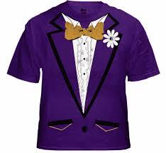 tuxedo shirt s purple tuxedo t shirt with ruffles