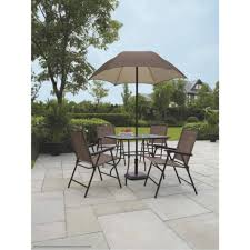 patio table and chairs mainstays sand dune piece folding patio