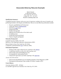 Sample Profile Resume Lawyer Profile Resume Examples Best Attorney Resume Example
