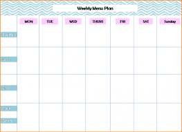 weekly menu templates free free printable meal planner best and various templates ideas