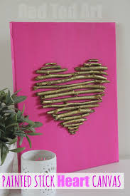 valentines decorations s decorations twig heart canvas ted s