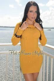 yellow sweater dress mustard lightweight turtleneck sweater dress