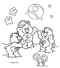 care bears playing ball coloring pages care bears playing ball