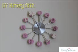 diy nursery clock webby wonder