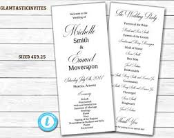 tea length wedding program template tea length wedding program template wedding program template