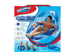 Swimming Pool Canopy by Amazon Com Swimways Spring Float Recliner With Canopy Sports