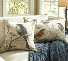 sky bird embroidered pillow covers pottery barn