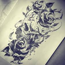 best 25 skull rose tattoos ideas on pinterest arm tattoos with