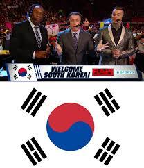South Korea Flag Wwe Managed To Show An Incorrect South Korea Flag And Even South