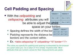 Table Cell Spacing Web Development