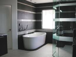black and white and blue bathroom gray ceramic tile floor with