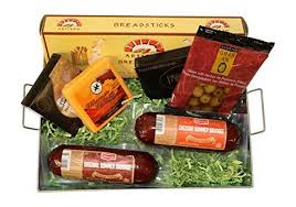 Sausage Gift Basket Summer Sausage U0026 Wisconsin Cheese Gift Basket With Klement U0027s Meat