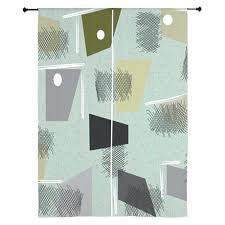 Teal Bird Curtains Teal Bird Curtains Light Coffee Tree And Bird Print Polyester