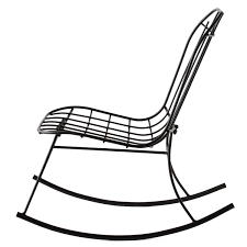 eames style iron rocking chair huzza