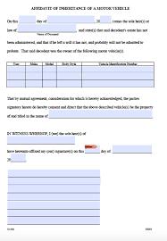 Power Of Attorney Form Dmv by Free Arkansas Affidavit Of Inheritance Motor Vehicle Form Pdf