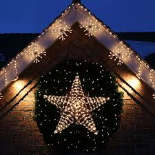 outdoor hanging snowflake lights super cool ideas outside christmas star light lighted lighting