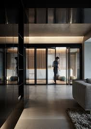 black acrylic glass and stone form this dark and sophisticated 11
