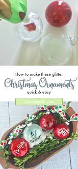 diy glitter ornaments refresh restyle