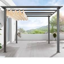 easy way to build a pergola with a slanted roof u2014 smith design