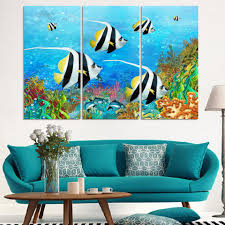 aliexpress com buy 3pcs undersea world oil painting printed on