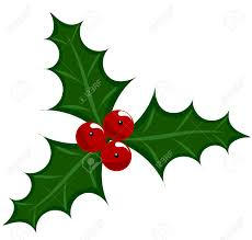 holly berry icon symbol of christmas illustration royalty free