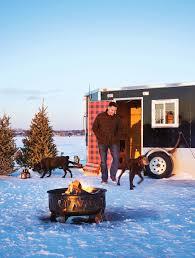a ralph lauren inspired ice fishing house