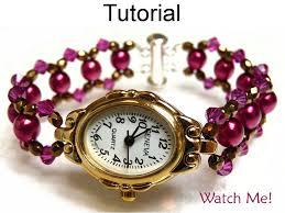 beaded bracelet watches images Beading tutorial pattern watch bracelet beaded watch jewelry 42885
