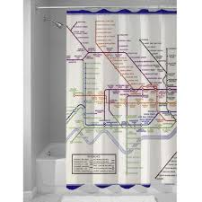 Map Shower Curtain London Underground Tube Map Shower Curtain 1933 Print Amazon Co
