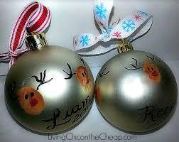 reindeer thumbprint ornament