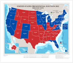 2012 Election Map by Electing A President Not A National Election