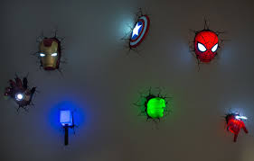 Bedroom Wall Light Fittings Experiencing Wall Lightings And Decorations With Marvel 3d Wall