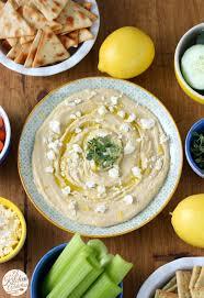 Hummus Kitchen Lemon Thyme Hummus With Feta A Kitchen Addiction